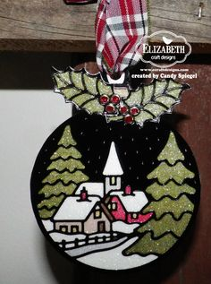 Elizabeth Craft Designs: Christmas Ornament Peel-off Stickers and Silk Microfine Glitter