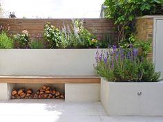 New sunken garden seating window ideas Back Garden Design, Modern Garden Design, Backyard Garden Design, Backyard Patio, Backyard Landscaping, Contemporary Garden Rooms, Landscaping Ideas, Modern Design, Small Courtyard Gardens
