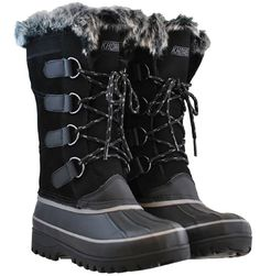 Khombu Boots North Star Style- Black These boots are new with tags and box! They have faux fur lining. Are leather upper, waterproof, and weather rated! True to size as well! Great for the winter! Ask me anything 😊 (KH) KHOMBU Shoes Winter & Rain Boots Black Snow Boots, Snow Boots Women, Warm Winter Boots, Winter Shoes, Winter Rain, Winter Gear, Buy Boots, Cool Boots, Khombu Boots