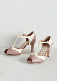 Going to Gait Lengths Heel in Mauve. Youll want to extend the duration of your amble when you strap your feet into these Chelsea Crew peep toes! #pink #wedding #bride #modcloth