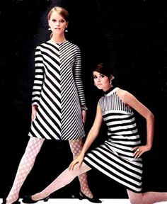 Colleen Corby in OpArt fashion of the 60s
