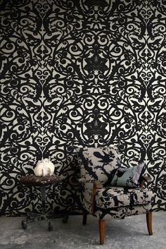 Timorous Beasties Wallcoverings - Birdcage Superwide - crazy but I like it!