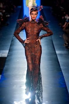 Jean Paul Gaultier Haute Couture Spring 2014 was sophisticated and tasteful while being undeniably fun. Jean Paul Gaultier, Paul Gaultier Spring, Butterfly Fashion, Butterfly Dress, Style Couture, Haute Couture Fashion, Dita Von Teese, Fashion Week, Fashion Show