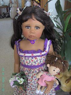 "Masterpiece Dolls Monika Levenig AA Viola, 35"" Vinyl #48 LE of 100 W/ XTRAS 2004 #DollswithClothingAccessories"