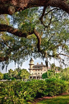 Jekyll Island, Georgia.  Originally was the home of the very wealthy, and is now a state park.