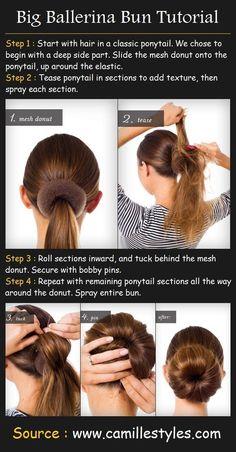 Sock Bun Updo Hairstyle for Long Hair Tutorial