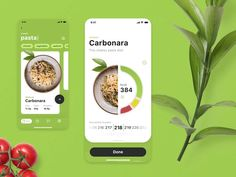 Calorie Calculator App Interactions Take another look at the app helping people to build healthy eating habits and analyze their influence on weight and well-being. That's the user interface designed for the app calculating calories . Food Web Design, Design Ios, Interface Design, User Interface, Brand Design, Graphic Design, Android App Design, Mobile App Design, Mobile Ui