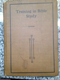 1912 Training In Bible Study Sunday School Board Southern Baptist Convention Old