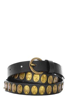 Black Skinny Gladiator Belt