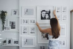Gallery wall with Ikea Ribba frames in our living room Ikea Photo Frames, Ikea Picture Frame, Ikea Frames, Picture Wall, Photo Wall, Ikea Gallery Wall, Gallery Wall Frames, Ikea Pictures, Ribba Frame