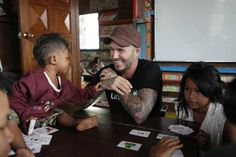 Every five minutes across the world a child dies as a result of violence. Our Goodwill Ambassador David Beckham travelled to Cambodia to meet with children affected by violence and hear their stories. © UNICEF/UKLA2015-00053/Irby