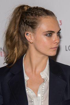 London Fashion Week: Cara Delevingne Rocks Braid Pony At Louis Vuitton Launch