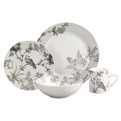 Formal Dinnerware - Oleg Cassini Tea Garden16 Piece Dinnerware Set  Maybe old fashion but I love it <3