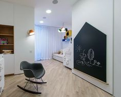 Open and Dynamic Interior in White by Ivan Yurima architects interior kids room