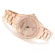 I'm in LOVE with this watch.  Ah, to dream! lol --Invicta Womens Angel Blush Diamond Pave & Morganite Bracelet Watch