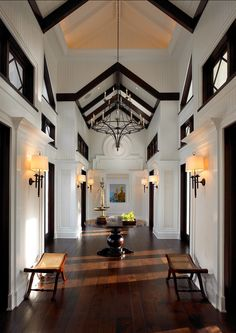 Entryway Design Ideas. Grand entryway with amazing architectural details. #Entryway
