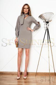 PrettyGirl Sweetie Grey Dress