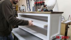 You can build this DIY Entryway Bench with Shoe Storage and organize your house. Detailed plans and a full video walkthrough are available for this project. Woodworking Tool Kit, Woodworking Table Saw, Woodworking Furniture, Diy Furniture, Woodworking Equipment, Woodworking Workshop, Woodworking Classes, Shoe Storage Bench Entryway, Diy Bench