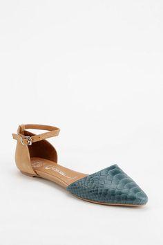 Jeffrey Campbell Lovins Ankle-Strap D'Orsay Flat