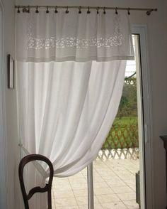 rideaux avec de vieux draps recycler pinterest. Black Bedroom Furniture Sets. Home Design Ideas