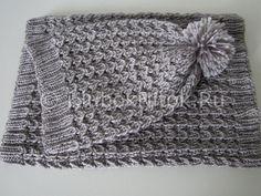 Шапочка и снуд красивым узором | Вязание для женщин | Вязание спицами и крючком. Схемы вязания.
