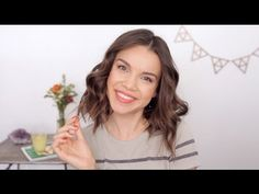 How to Curl Short Hair with a Flat Iron by Ingrid Nilsen - All Things Hair - YouTube