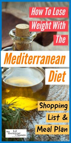 After reading this post you'll learn everything you need to know about the Mediterranean Diet. Included is a sample meal plan for weight loss, along with a shopping list you can use on a monthly basis. Mediterranean Diet Shopping List, Easy Mediterranean Diet Recipes, Mediterranean Food, Food Shopping List, Weight Loss Meal Plan, Diet Meal Plans, Meal Prep, Best Diets, Diet And Nutrition