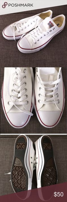 White converse New in box. Price is firm Converse Shoes