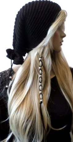 Silver Beads Leather Hair Ties Wraps Hair Jewelry Suede Ponytail | gingasgalleria - Accessories on ArtFire
