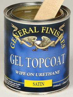 General Finishes Gel Topcoat Gel Topcoat Satin is a heavy duty oil and urethane oil base top coat, which produces a beautiful hand rubbed quality finish. Gel satin is a thicker consistency, so there's Best Wood Stain, Stain Wood, Grey Stain, Java Gel Stains, Shabby Chic Kitchen Decor, Oil Based Stain, Gel Top Coat, Upholstery Foam, General Finishes