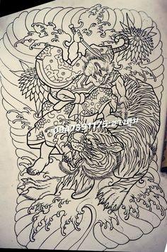 Back Tattoo, I Tattoo, Tattoo Lettering Alphabet, Samurai, Japanese Tattoo Designs, Japan Tattoo, Tattoo Sketches, Japanese Art, Shark