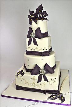 wedding cake by Design Cakes, via Flickr