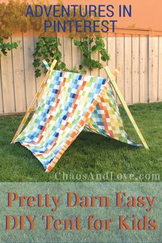 Make this easy a frame tent for the littles in your life! Great for #summer! #diy #crafts