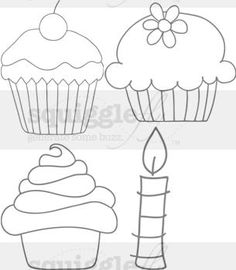 Digi cupcakes and candle
