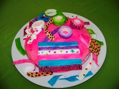 neon cakes for teen girls | cake for a girl who loves to make things out of duct tape… | My ...