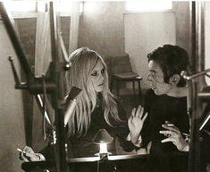 Brigitte Bardot and Serge Gainsbourg.