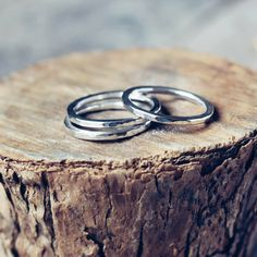 Silver rings Handmade in Ireland from sterling silver. Perfect as a simple wedding ring or promise ring, shiny and simplistic, for a no fuss kind of person!
