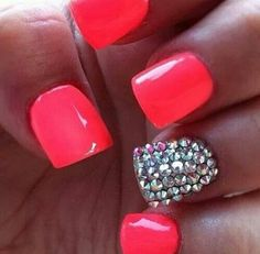 Cute nails loving the color
