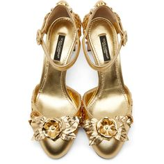 Dolce and Gabbana Gold Embellished Mary Jane Heels ($710) ❤ liked on Polyvore featuring shoes, pumps, heels, ankle strap pumps, block heel pumps, mary jane pumps, mary-jane shoes and gold ankle strap pumps