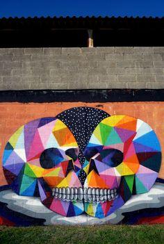 Amazing Skull Street Art