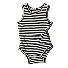 Goat-Milk Sleeveless Onesie in Black and White Stripes Designer Baby Boy Clothes, Babe, Neutral Outfit, Goat Milk, Ladies Dress Design, Organic Cotton, Onesies, Girl Outfits, One Piece