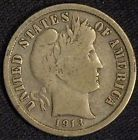 1913 S  US Silver BARBER DIME, Better Date, VG-Fine !  (a)