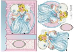Little Princess on Craftsuprint designed by Diane Hannah - Little Princess, includes decoupage elements, and a blank tag. Suitable for many occasions. - Now available for download!