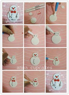 the simplist snowman - fondant tutorial