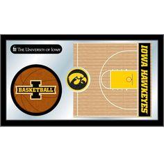 Iowa Hawkeyes Basketball Court Mirror Wall Art
