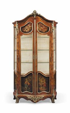 A FRENCH ORMOLU-MOUNTED, ROSEWOOD AND VERNIS MARTIN VITRINE - OF LOUIS XV STYLE, LATE 19TH CENTURY.