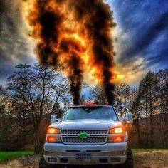 diesel chevrolet silverado burning coal