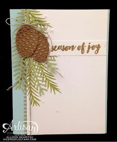 This project features products from the Presents and Pinecones suite of products from #stampinup #holidaymini2016  See more card and gift ideas at www.StampingMom.com #StampingMom