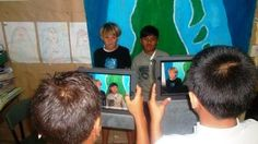 iPads being used at Araura Primary School in the Cook Islands.