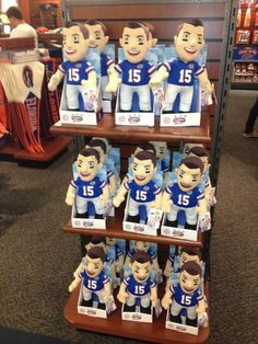 """Nathan Crabbe - """"You can never escape the shadow of Tim Tebow at UF. These dolls are being sold at the bookstore."""" (August 2012)"""
